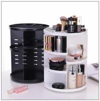 Wholesale wholesale professional makeup brush holder - 3 Colors 360 Degree Rotatable Professional Cosmetic Brush Storage Holder Multifunction Makeup Cosmetic Organizer CCA9041 40pcs