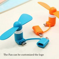 Wholesale mobile gadgets online - 2018 Mini Micro USB Fan Mobile Phone USB Gadget Fan Tester Cell phone For type c i5 Samsung s7 edge s8 plus STY080