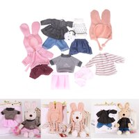Wholesale dolls clothes bjd - Soft Dress Skirt Sweater 30cm Play House Doll Clothes for Bunny Rabbit Cat Plush Toys for 1 6 BJD Doll Gifts Dolls Accessories