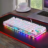 компьютерные ключи пк оптовых-Motospeed K87S USB Wired Mechanical Keyboard Gamer Keyboard with RGB Backlight 87 Keys 1.8m cable for PC Computer Gaming