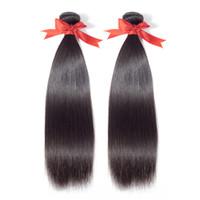 28 inç bakire saç uzatma toptan satış-Malezya düz saç örgü demetleri Beaudiva 8A Malezya bakire saç düz% 100% İnsan saç uzantıları arapsaçı ücretsiz