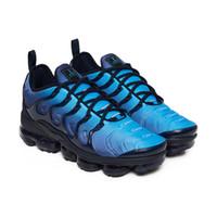 golfschuhe für frauen großhandel-2019 New TN Plus Grau In Metallic Frauen Herren Laufsport Designer Luxus Schuhe Für Männer Turnschuhe Marke Trainer
