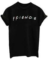 camisetas gráficas unisex al por mayor-MISACTIVA Amigos Show de TV Unisex Mujer Linda Camiseta Junior Tops Teen Girls Graphic Tees Camiseta Ocasional Ocasional