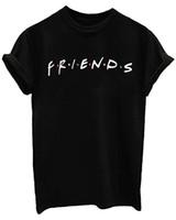 camisas do verão dos juniors venda por atacado-MISSACTIVER Amigos TV Show Unisex das Mulheres Bonitos T Camisa Tops Júnior Meninas Adolescentes Gráfico Tees de Verão Casual Solto Tshirt