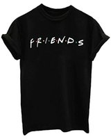 ingrosso camicie estive junior-MISSATTIVER Friends TV Show T Shirt da donna unisex Junior Top T-Shirt Teenager Graphic Tees Estate Casual Maglietta Allentata