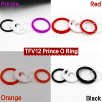 Wholesale O Ring Sets - Colorful Silicone O Ring TFV12 Prince Tank Seal O-rings Replacement Orings Set For Smok TFV12 Prince Atomizer 4 Colors DHL Free