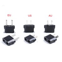 Wholesale travel adapter online - Universal Travel Adapter AU EU US to EU Adapter Converter Power Plug Adaptor USA to European