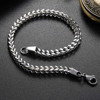 braceletes de mão mens venda por atacado-JieyueJewelry mens pulseiras Pulseiras 20 cm de comprimento de Aço Inoxidável Pulseira de Mão Cadeia de Presente Da Jóia pulseira 3/4/5 / 6mm
