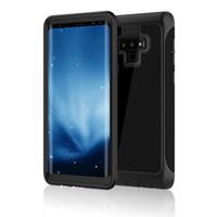 prueba de agua de la nota al por mayor-Para Galaxy Note 9: Caja protectora, vida contra el agua, protección contra el polvo, suciedad y nieve para Samsung Galaxy Note 9 con cubierta de identificación táctil