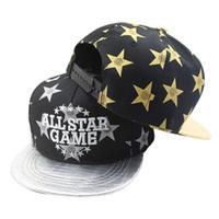 kore eşleme şapkaları toptan satış-Yeni Moda Kore Tarzı Yıldız Deri Tepe Erkek Snapback Kap Beyzbol Kapaklar Çocuk Hip-Hop Şapka