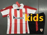 Wholesale Boys Athletic Shorts - New Athletic Club Bilbao 17 18 Home kids Soccer Jersey SUSAETA GURPEGUI MUNIAIN soccer shirt 2017 2018 Bilbao kids Football uniforms Sales