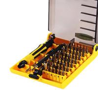 herramientas telefónicas de mano al por mayor-Juego de destornilladores 45 en 1 Kit de herramientas de mano fina Juego de destornilladores de hardware Juego de herramientas manual intercambiable para el disco duro del teléfono móvil