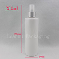 Wholesale fine bottles for sale - Group buy 250ml x white refillable empty makeup spray water bottle cc fine mist liquid medicine plastic container with sprayer pump