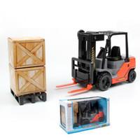 Wholesale Toy Crane Ship - NEW children's Desktop Crane inertial forklifts internal combustion truck ABS toy car children gift free shipping