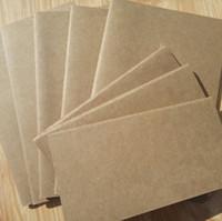 a6 merkzettel großhandel-Vintage A6 Blank soft copybook Notizblock mit Gefütterten Seite Kraft abdeckung journal notebooks 45pcs