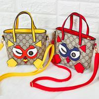 baykuş çapraz vücut çanta toptan satış-Çocuklar Tasarımcı Çanta 2019 Moda Kızlar Mini Prenses Çantalar Büyük Kapasiteli Sevimli Mektup Baykuş Çapraz vücut Çanta Çocuk Noel Hediyeleri