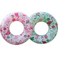 piscinas infantis infláveis venda por atacado-Top Quality 2 Cores Infláveis Flamingo Anel de Natação Flutuador Piscina inflável crianças Natação Círculo crianças Nadar Anel Flutuador Piscina