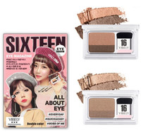 Wholesale hello set - NEW SIXTEEN 16 Brand double color Eyeshadow eye magazine one step eye shadow quick easy everyday hello monday with brush Kit Palettes Makeup