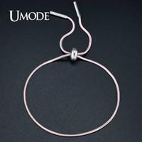Wholesale umode bracelets for sale - Group buy UMODE Brand Colors Charm Fashion Jewelry Slide Snake Chain Link Bracelets for Women Pulseira Feminina Christmas Gifts UB0114