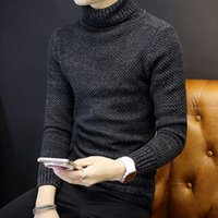 Wholesale plain pullover sweater - brand-clothing men sweater Turtleneck pull homme Plain Korean Style Computer Knit man Pullover sweter masculino M-XXL