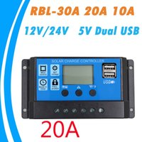 Wholesale solar panel cells online - 30A A A V V Auto work PWM Solar Charge Controller with LCD Dual USB V Output Solar Cell Panel Charger Regulator PV Home
