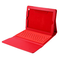 Wholesale wireless keyboards colors online - Wireless Bluetooth Keyboard Case For iPad Tablet PC PU Leather Case Cover with Stand Holder Colors