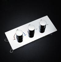interruptor de control de flujo de agua al por mayor-Mezclador de válvula de ducha Contemporáneo en pared Baño oculto Interruptor de control de ducha Válvula Control termostático Flujo de agua pequeño