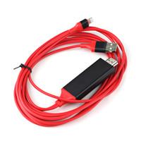 video 2m venda por atacado-Lightning AV Adaptador de Vídeo HDMI Carga 2 m Vermelho / Preto / Branco Cabo HDTV apple frete grátis DHL