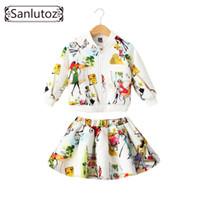 vestes formelles filles achat en gros de-Sanlutoz Vêtements pour enfants Ensemble de vêtements pour enfants Marque Vêtements pour filles Vêtements de sport d'hiver Toddler 2 PCS (Veste + Jupe) Y18102408