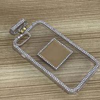 acessórios para celular venda por atacado-Casos de telefone celular extravagante para iphone 8 7 6 s 6 plus diamante acessórios do telefone da garrafa de perfume anti gravidade lady luxo mulheres case