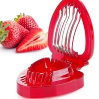 bolo de gadget de ferramentas venda por atacado-Morango Slicer Frutas Legumes Ferramentas de Escultura Bolo Cortador Decorativo Aparelhos de Cozinha Acessórios Fruit Carving Faca Cortador