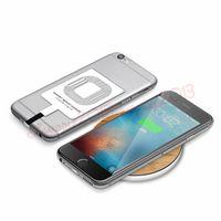 mikro usb kablosuz şarj alıcısı toptan satış-Evrensel TIP C Mikro Usb Qi Kablosuz Şarj Alıcı Şarj Alıcı Pad Adaptörü Samsung Galaxy S5 S3 S4 NOT 2 3 4 Diğer telefon