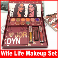 Wholesale lipstick bundles for sale - Group buy New Makeup Cosmetic Big Set The Makeup Collection Bundle Glitters eyeshadow Lipsticks Highlighter Wife Life Full Set