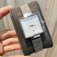 Wholesale Battery Flash - Drop shipping Famous Women Watch Famous brand stainless Steel Hot Sale Luxury Lady Wristwwatch With Date Quartz Clock Flashing Dial