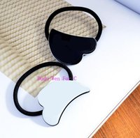 Wholesale Paper Holiday Cards - New 4PCS Lovely Cloud shape HairTie Engraved fashion C Mark Luxury Accessories collection item Acrylic Hair Rope party gift with paper card