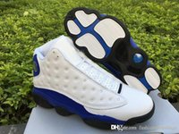 Wholesale Pre Fabric - 2018 Air Retro 13 HYPER ROYAL PRE ORDER BLUE WHITE Sneakers Sports Men Basketball Shoes With Original Box