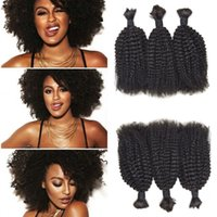 ingrosso estensioni naturali dei capelli donna-Vendita calda Afro crespa ricci capelli umani Bulk per le donne nere Non trasformati estensioni dei capelli neri naturali G-EASY