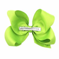 """barrettes for toddlers UK - 6 Inch Hair Bows for Girls Big Grosgrain Girls 6"""" Hair Bows Alligator Clips For Teens Kids Toddlers"""