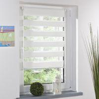 weißer vorhang nach hause großhandel-Mode Luxus Roller Zebra Blind Vorhang Fenster Schatten Dekor Innenministerium Weiß