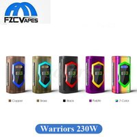 Wholesale metal warriors - Authentic Laisimo Warriors 230W Box Mod 0.96inch TFT Screen Dual 20700 18650 E Cigarette Vape Mod 100% Original