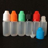 fabricants de bouteilles en plastique achat en gros de-Vente en gros - Fabricant en gros 1200pcs PE bouteilles de compte-gouttes en plastique 10ml avec une pointe de bouchon enfantine, bouteilles compte-gouttes pour les yeux, bouteille en plastique 10ml