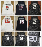 Wholesale Manu Black - NCAA College Basketball 15 2 Kawhi Leonard Jersey The City Edition Camo 9 Tony Parker 20 Manu Ginobili Jerseys Stitched