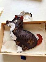tierisches leder großhandel-neuer Art und Weiseschlüsselanhänger Tiertierqualitätsleder-Metallfrühlingsschnalle des netten Tierkreises lederne mit vorzüglicher verpackender Geschenkbox