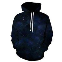 ingrosso hoodie viola 3d-BZPOVB nuovo Purple Sky 3D Felpe Felpe con cappuccio da uomo / donna 3D Stars Print Space Galaxy Felpe con cappuccio da uomo ispirato a cappuccio con cappuccio
