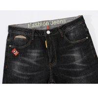 ingrosso jeans di qualità dei ragazzi-Jeans da uomo Jeans neri da uomo Pantaloni slim fit in denim elasticizzato Pantaloni casual di qualità Pantaloni business per uomo Ragazzi Jean Homme Taglia 38 all'ingrosso