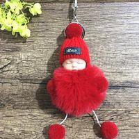 ingrosso borsa di sonno coreana-Natale dormire bambino catena chiave femminile coreano creativo a pelo di sonno bambola bambola sacchetto della peluche appeso