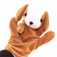 Wholesale Hand Puppet Dog Toy - 1 PC Baby Kids Child Animal Dog Finger Puppet Infant Kid Toy Plush hand puppets Toys for children #XTT