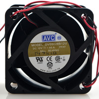 fãs de avc venda por atacado-Original AVC DV05028B12U 12 V 1.65A 2 AVC linha 5 cm 5028 dual ball fan