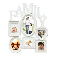 Wholesale family wall picture frames - Plastic Family Photo Frame Wall Hanging Picture Holder Display Home Room Decor