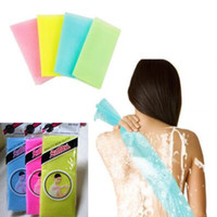 Wholesale flower wash towel online - Bath Brushes Novelty Multi Colors Nylon Sponges Exfoliating Beauty Skin Shower Wash Bath Cloth Towel Back Scrubbers CCA10629
